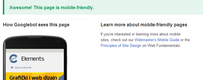google i mobile friendly stranice
